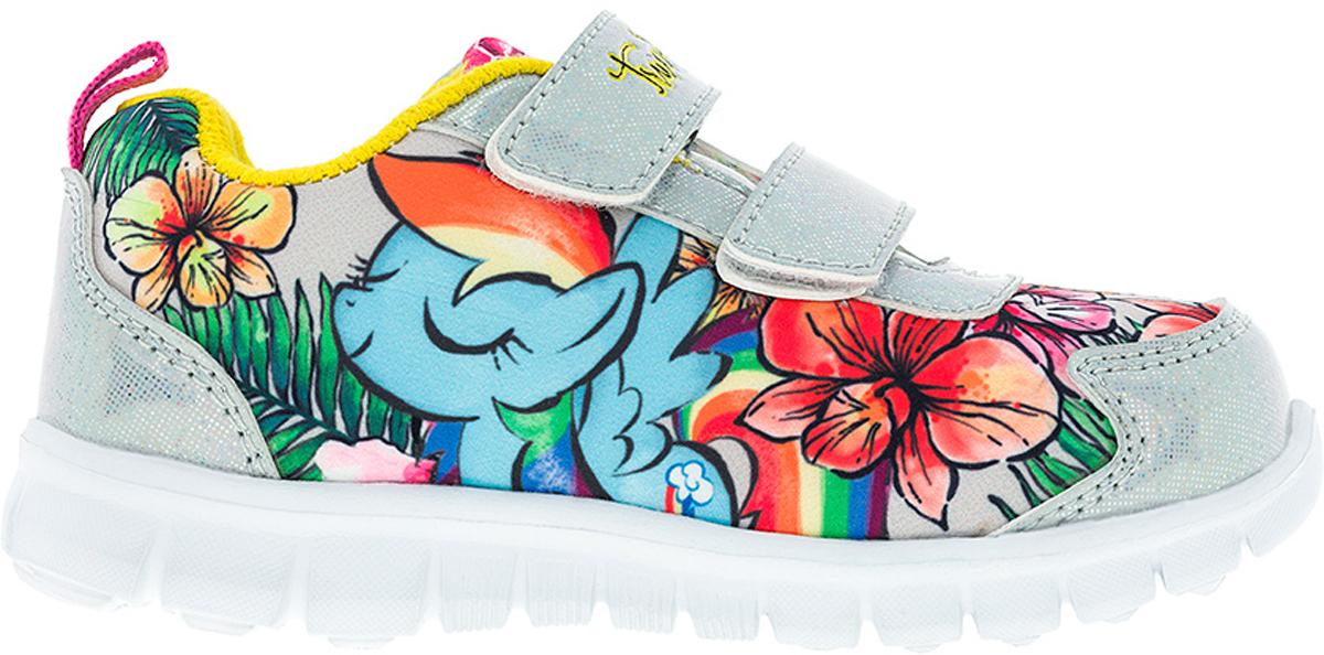 Кроссовки6736CСтильные кроссовки My Little Pony от Kakadu - отличный выбор для вашей малышки на каждый день. Верх модели выполнен из синтетической кожи и текстиля. Кроссовки оформлены принтом с изображением персонажей мультсериала My Little Pony. Ремешки на застежках-липучках обеспечивают надежную фиксацию обуви на ноге. Подкладка из хлопкового материала создает комфорт при носке. Съемная стелька удобна в эксплуатации и позволяет быстро просушивать обувь. Подошва выполнена из легкого ЭВА-материала. Рифление на подошве обеспечивает отличное сцепление с любой поверхностью. Модные и комфортные кроссовки - необходимая вещь в гардеробе каждого ребенка.