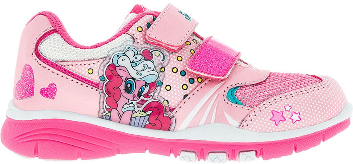 Кроссовки6737AСтильные кроссовки My Little Pony от Kakadu - отличный выбор для вашей малышки на каждый день. Верх модели выполнен из синтетической кожи и дышащего текстиля. Кроссовки оформлены принтом с изображением персонажей мультсериала My Little Pony. Ремешки на застежках-липучках обеспечивают надежную фиксацию обуви на ноге. Подкладка из хлопкового материала создает комфорт при носке. Съемная стелька удобна в эксплуатации и позволяет быстро просушивать обувь. Подошва выполнена из резины. Рифление на подошве обеспечивает отличное сцепление с любой поверхностью. Модные и комфортные кроссовки - необходимая вещь в гардеробе каждого ребенка.