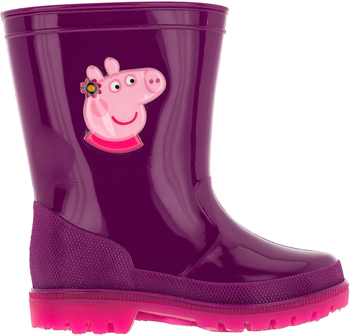 Резиновые сапоги6751BМодные резиновые сапоги от Kakadu - идеальная обувь в дождливую погоду для вашей девочки. Модель оформлена принтом с изображением Свинки Пеппы. Внутренняя поверхность и стелька из текстиля способствуют поддержанию тепла и комфортны при ходьбе. Подошва с протектором гарантирует отличное сцепление с любой поверхностью. Резиновые сапоги - необходимая вещь в гардеробе каждого ребенка.