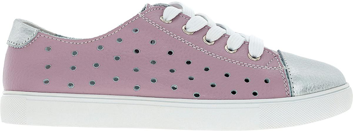 Кеды6786CКеды для девочек от Begonia - это красивая и удобная обувь для повседневной носки, дополнены перфорацией, которая придаёт обуви лёгкость и оригинальность. Верх и подкладка выполнены из качественной натуральной кожи, обеспечивающей воздухообмен и отведение излишней влаги. Подошва изготовлена из плотной износостойкой резины, устойчивой к многократным изгибам. Быстрая регулировка объема достигается с помощью шнуровки.