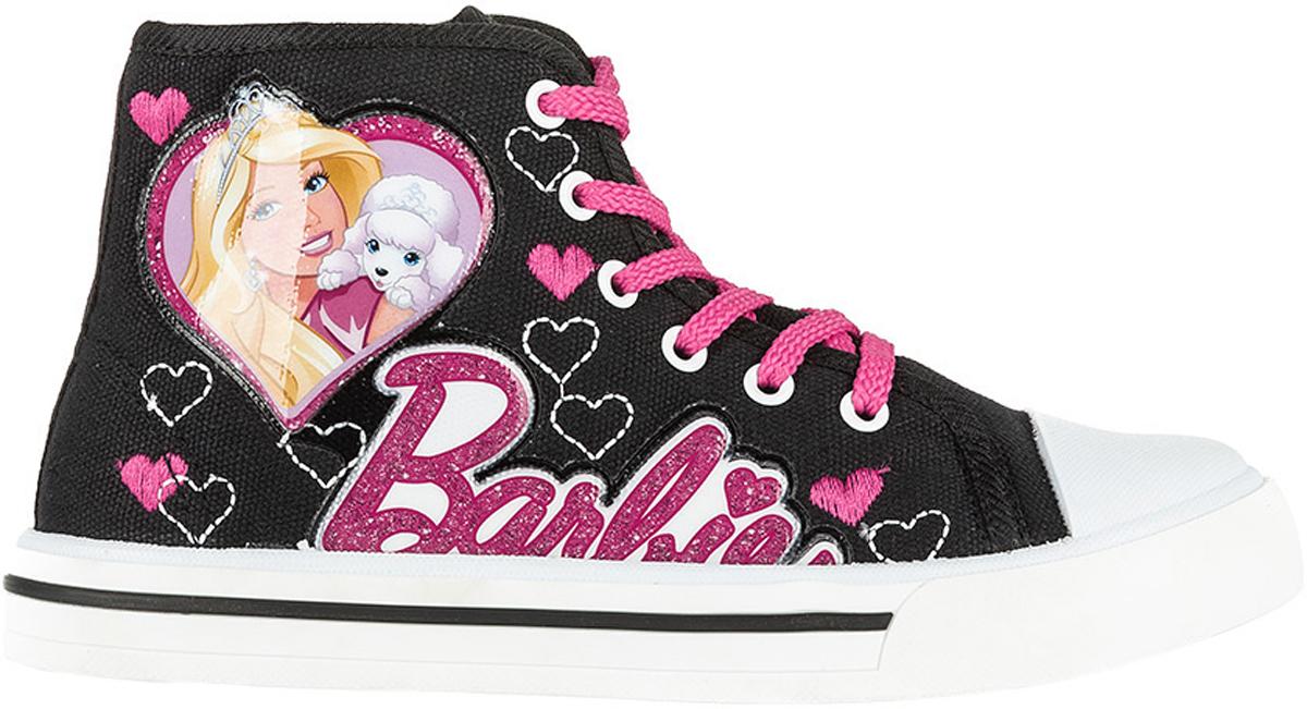 Кеды6176AСтильные высокие кеды Barbie от Kakadu - отличный выбор для юной модницы. Модель выполнена из плотного дышащего текстиля. Кеды оформлены нашивками с изображением Барби и надписью Barbie, а также вышитыми сердечками. Классическая шнуровка надежно фиксирует обувь на ноге, а застежка-молния облегчает обувание. Внутренняя поверхность из мягкого хлопка создает комфорт при движении. Кожаная стелька удобна в эксплуатации и долговечна. Мягкая резиновая подошва имеет отличную амортизацию, благодаря чему снижается нагрузка на суставы и позвоночник. Рифление на подошве гарантирует отличное сцепление с любыми поверхностями. Модные и удобные кеды займут достойное место в гардеробе каждого ребенка.