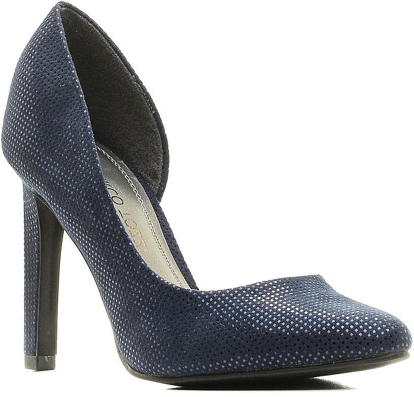 Туфли2-2-22417-28-824/215Стильные женские туфли от Marco Tozzi займут достойное место в вашем гардеробе! Модель изготовлена из текстиля и исполнена в лаконичном стиле. Заостренный вытянутый носок смотрится невероятно женственно. Изысканные туфли добавят шика в модный образ и подчеркнут ваш безупречный вкус.