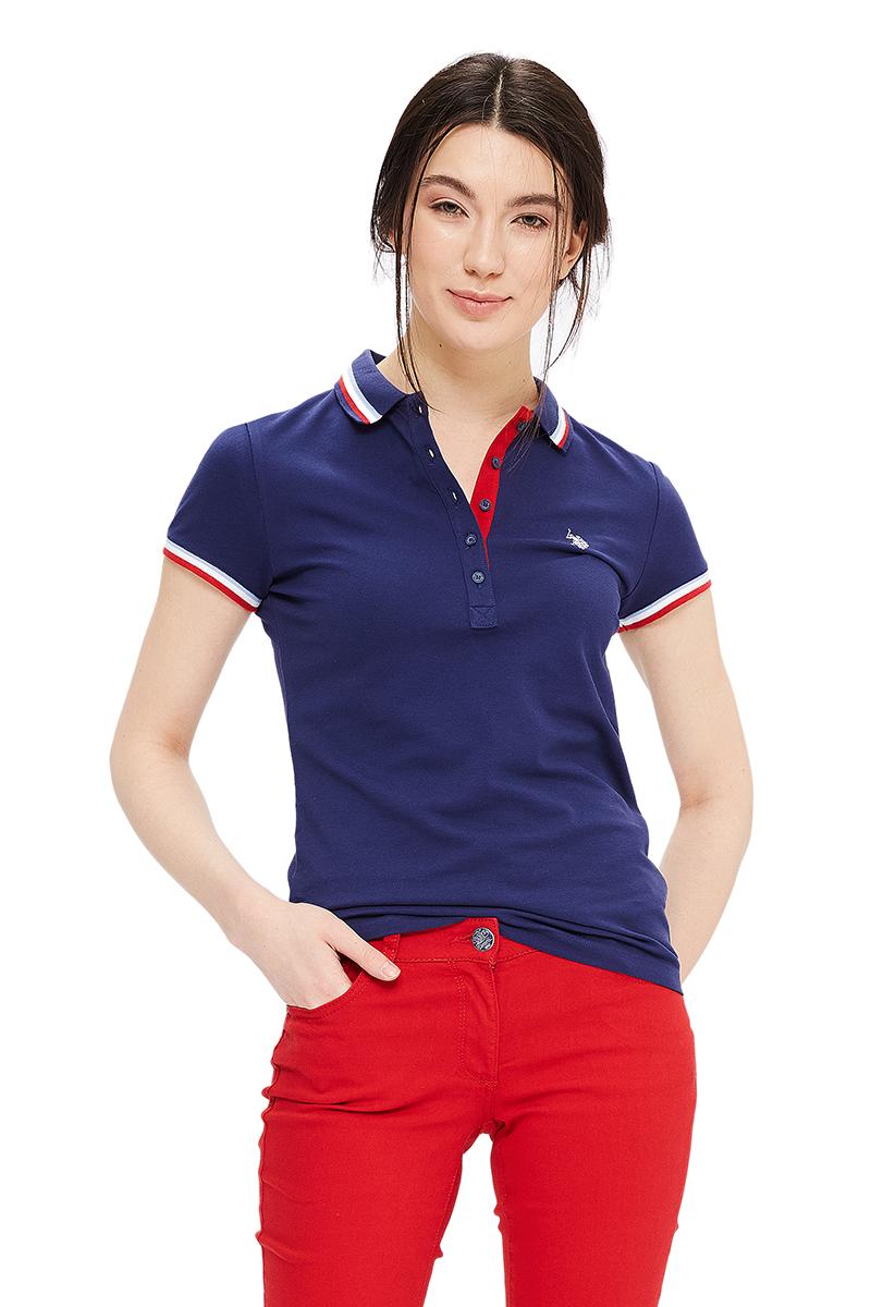 ПолоG082GL0110GLORIA-IY06Стильная футболка-поло с короткими рукавами и отложным воротником выполнена из натурального эластичного хлопка. На груди модель застегивается на пуговицы.