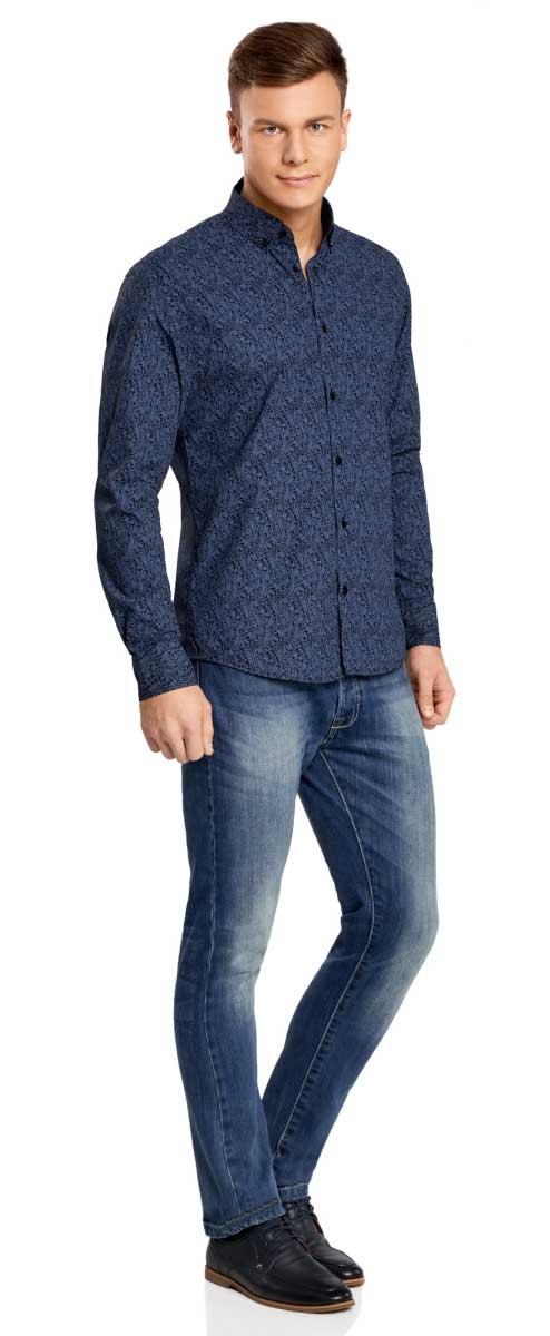 Рубашка3L110207M/19370N/2975EРубашка приталенного силуэта с принтом пейсли
