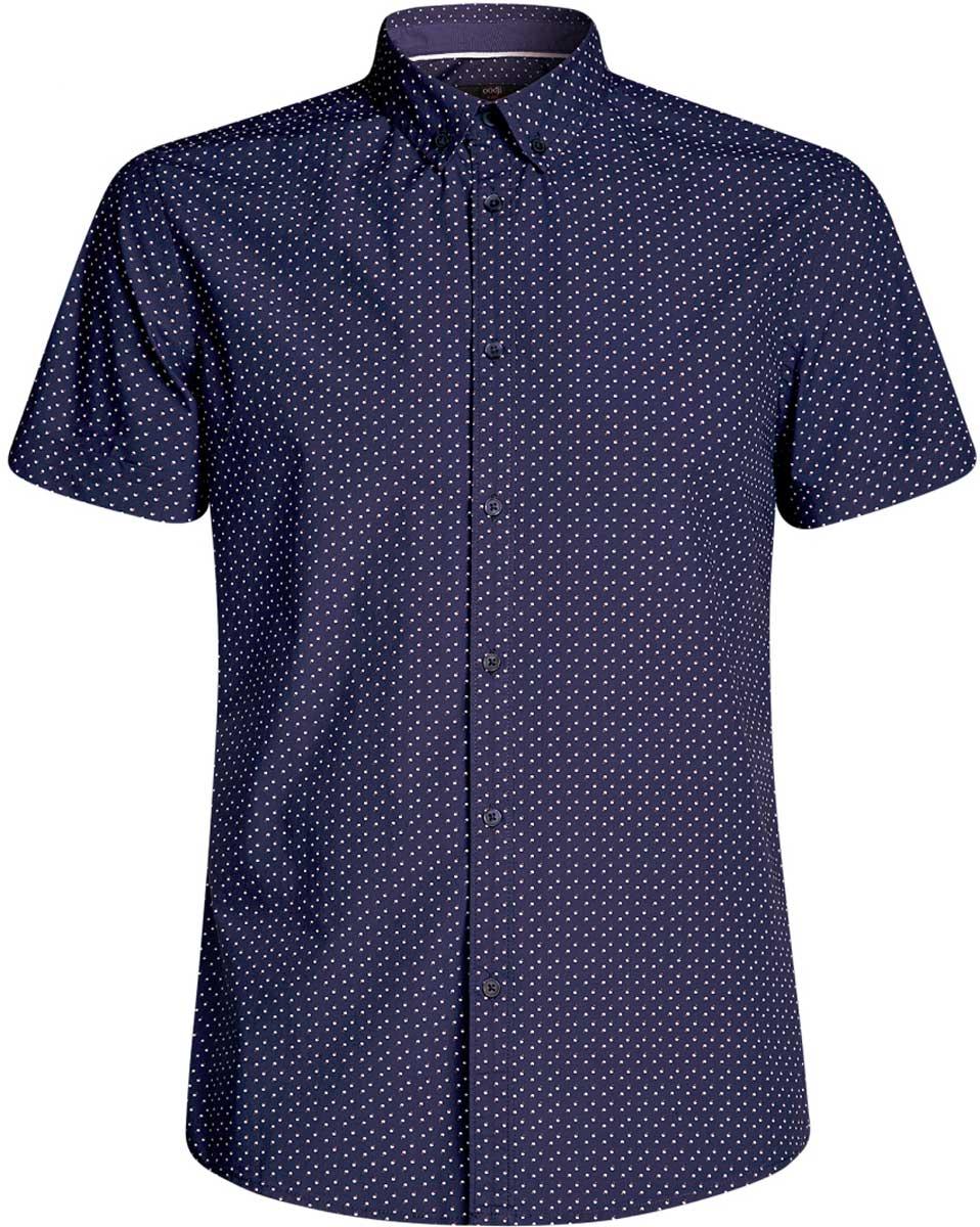 Рубашка3L410095M/39312N/1075GРубашка принтованная с коротким рукавом