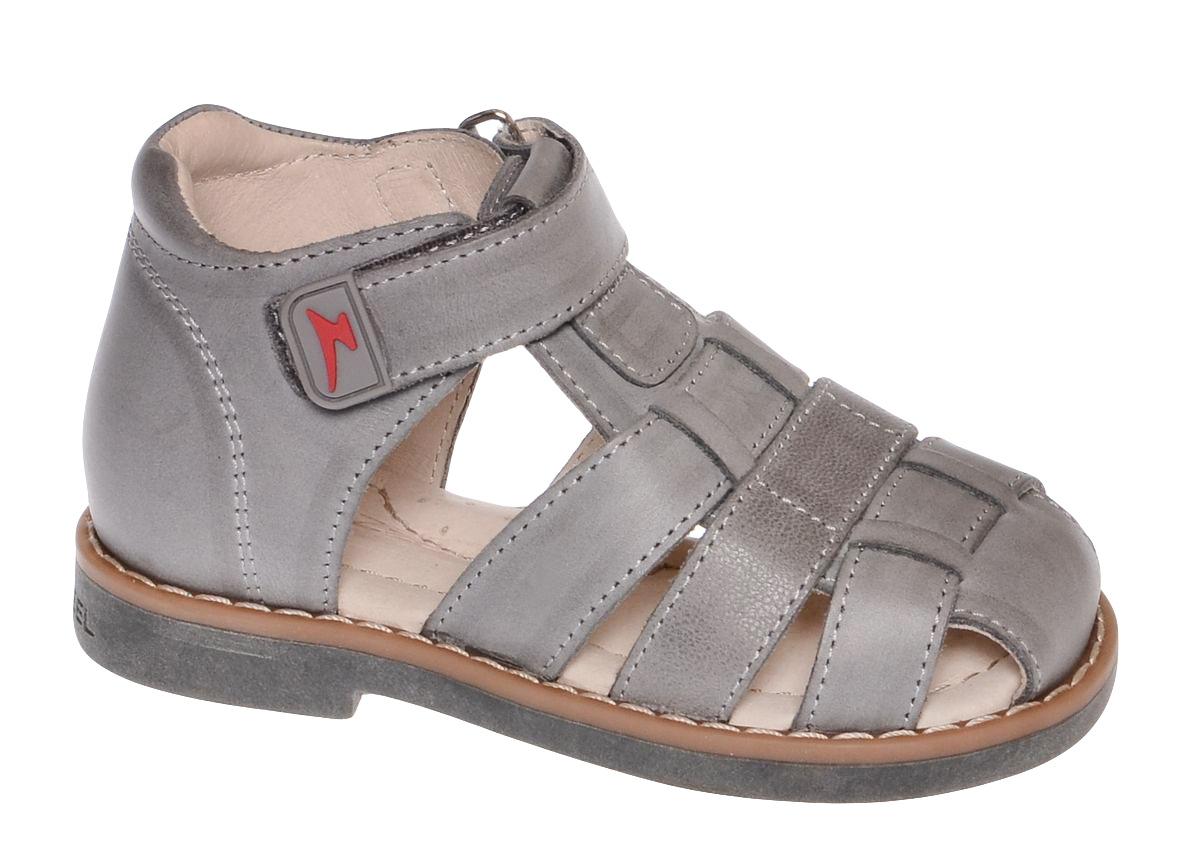 Сандалии11535-10Сандалии от Зебра выполнены из натуральной кожи. Внутренняя поверхность и стелька из натуральной кожи комфортны при ходьбе. Стелька дополнена супинатором, который обеспечивает правильное положение ноги ребенка при ходьбе и предотвращает плоскостопие. Ремешок с застежкой-липучкой позволяет прочно зафиксировать ножку ребенка. Ортопедический каблук Томаса укрепляет подошву под средней частью стопы и препятствует ее заваливанию внутрь.