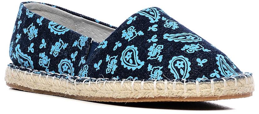 Кеды19306-4Кеды Vitacci выполнены из текстиля и оформлены оригинальным принтом. Модель дополнена небольшими боковыми эластичными вставками. Внутренняя поверхность и стелька изготовлены из текстиля. Подошва из резины, украшенная сбоку плетеной джутовой нитью, дополнена рельефным рисунком.