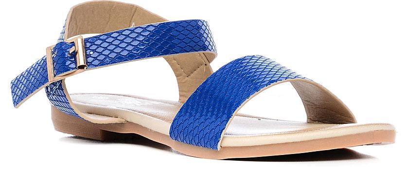 Сандалии19495-4Сандалии Vitacci выполнены из искусственной кожи со стильным тиснением. На ноге модель фиксируется с помощью ремешка с пряжкой. Внутренняя поверхность и стелька изготовлены из искусственной кожи. Подошва из резины дополнена рельефным рисунком.