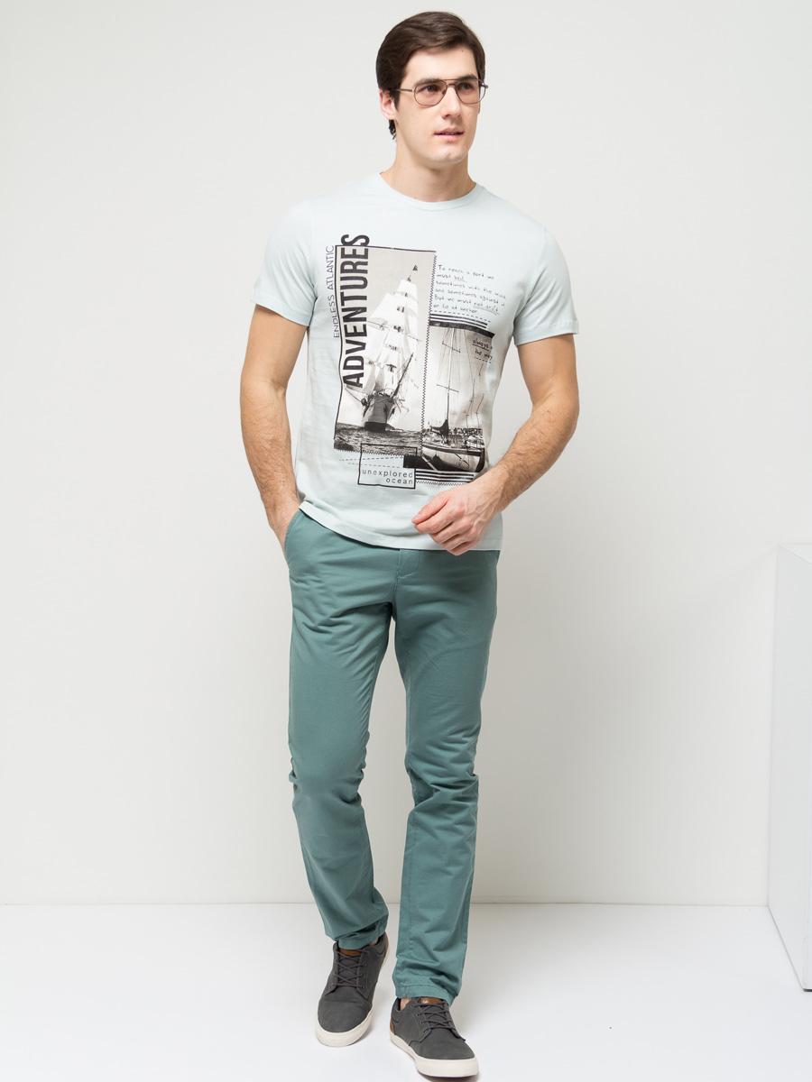 ФутболкаTs-211/1102-7112Стильная мужская футболка полуприлегающего силуэта Sela изготовлена из натурального хлопка и оформлена оригинальным принтом в морском стиле. Воротник дополнен мягкой трикотажной резинкой. Яркий цвет модели позволяет создавать модные образы.