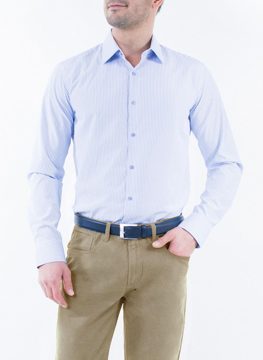 Рубашка2-171-20-1374Мужская рубашка Greg Horman выполнена из хлопка с добавлением полиэстера. Модель полуприталенного силуэта с отложным воротником и длинными рукавами оформлена принтом в полоску. Изделие застегивается по всей длине на пуговицы, украшенные символикой бренда. Манжеты рукавов также застегиваются на пуговицы. Удобный крой, выверенный силуэт и безупречное исполнение делает эту рубашку уникальным решением для стильных образов и незаменимым атрибутом мужского гардероба.