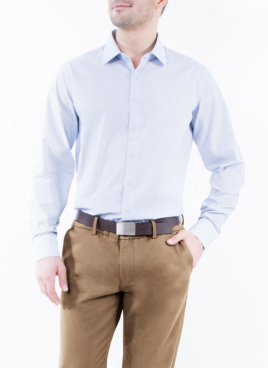 Рубашка2-171-20-1390Мужская рубашка Greg Horman выполнена из хлопка с добавлением полиэстера. Модель полуприталенного силуэта с отложным воротником и длинными рукавами оформлена мелким принтом. Изделие застегивается по всей длине на пуговицы, украшенные символикой бренда. Манжеты рукавов также застегиваются на пуговицы. Удобный крой, выверенный силуэт и безупречное исполнение делает эту рубашку уникальным решением для стильных образов и незаменимым атрибутом мужского гардероба.