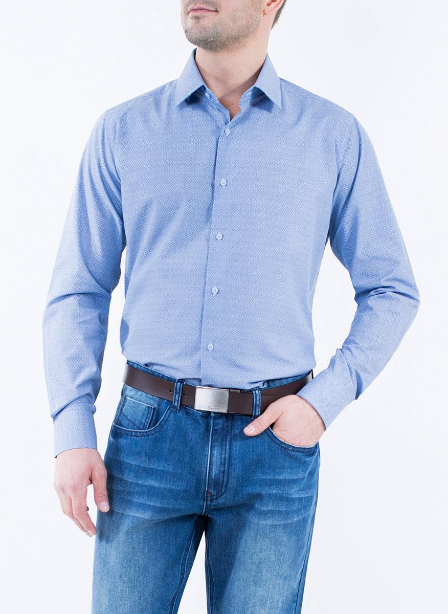 Рубашка2-171-20-1393Мужская рубашка Greg Horman выполнена из хлопка с добавлением полиэстера. Модель полуприталенного силуэта с отложным воротником и длинными рукавами оформлена мелким принтом. Изделие застегивается по всей длине на пуговицы, украшенные символикой бренда. Манжеты рукавов также застегиваются на пуговицы. Удобный крой, выверенный силуэт и безупречное исполнение делает эту рубашку уникальным решением для стильных образов и незаменимым атрибутом мужского гардероба.