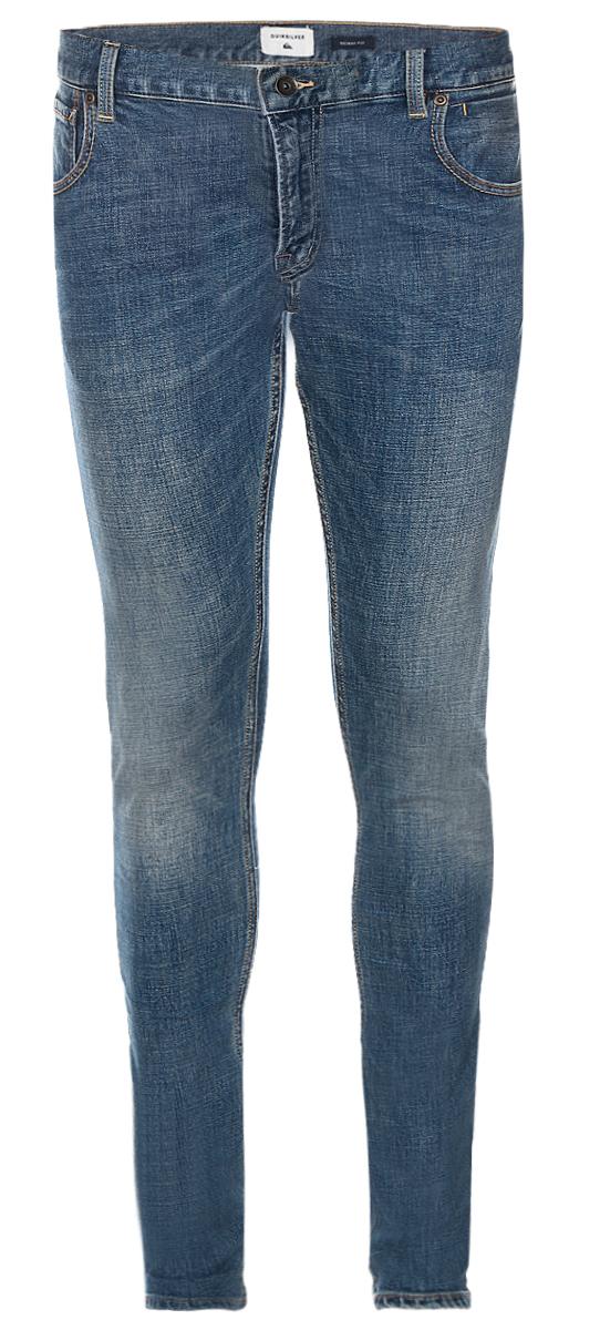 ДжинсыEQYDP03320-BYGWМужские джинсы Quiksilver выполнены из высококачественного эластичного хлопка. Джинсы-скинни стандартной посадки застегиваются на пуговицу в поясе и ширинку на застежке-молнии, дополнены шлевками для ремня. Джинсы имеют классический пятикарманный крой: спереди модель дополнена двумя втачными карманами и одним маленьким накладным кармашком, а сзади - двумя накладными карманами. Модель украшена декоративными потертостями.