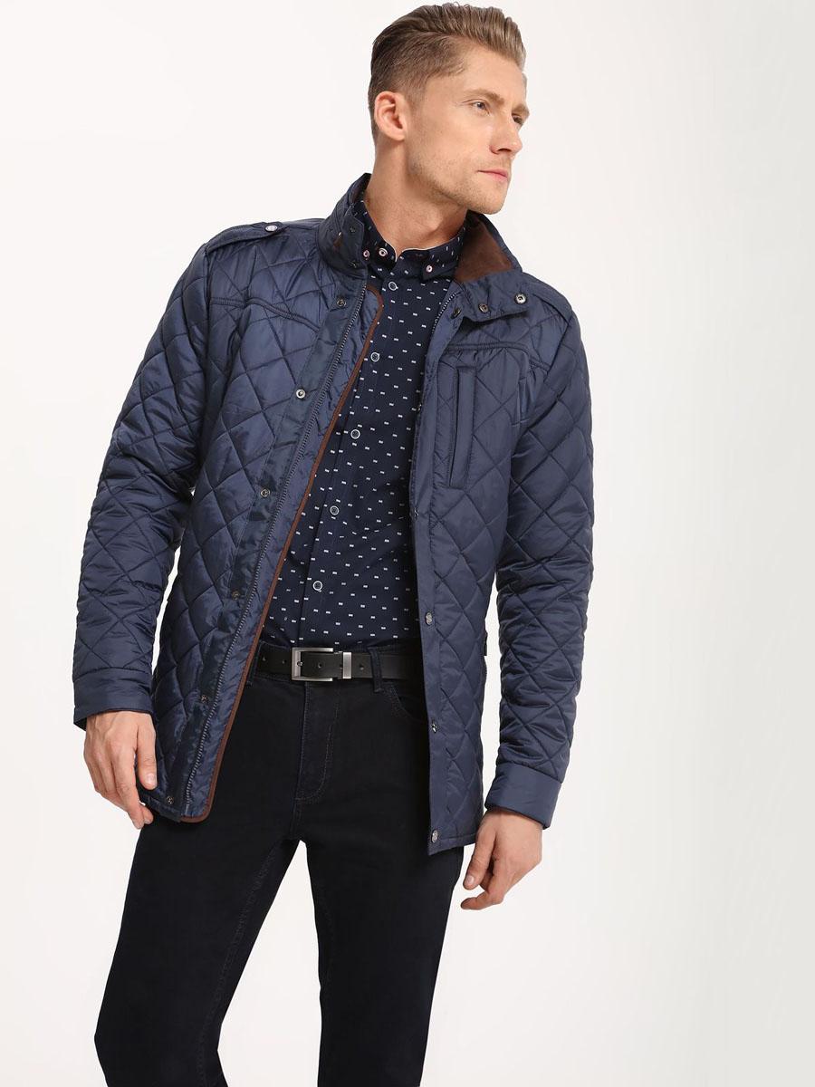 КурткаSKU0753GRМужская куртка Top Secret выполнена из полиэстера. Модель с воротником стойкой и длинными рукавами застегивается на кнопки и застежку-молнию.