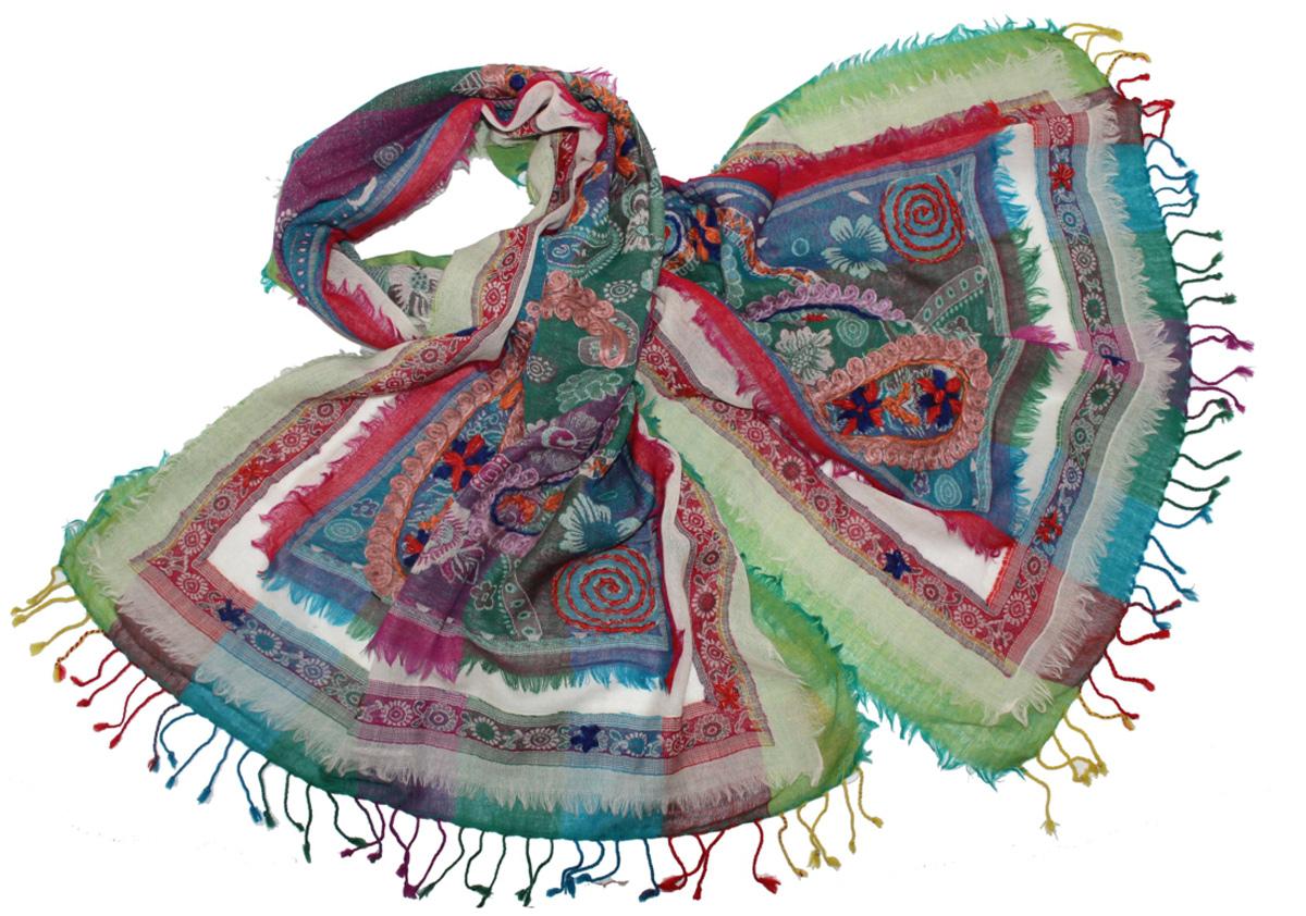 Палантин577750нЭффектный палантин Ethnica подчеркнет ваш неповторимый образ. Изделие выполнено из 100% шерсти, оформлено оригинальным принтом и вышивкой. Этот модный аксессуар гармонично дополнит ваш образ.