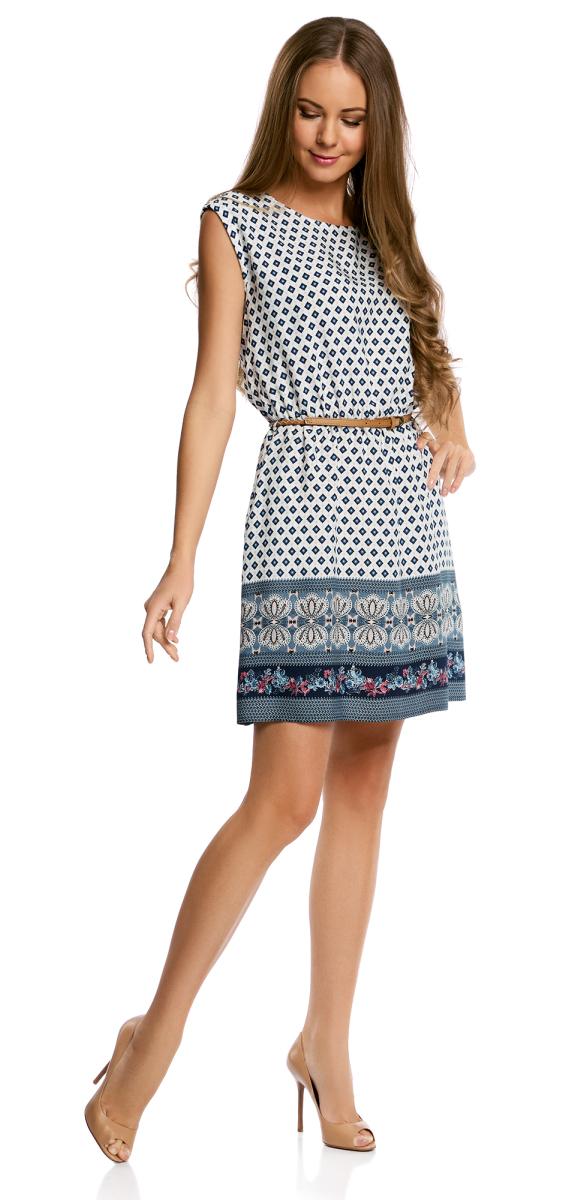Платье11910073-3/26346/1231EПлатье вискозное с поясом базовое