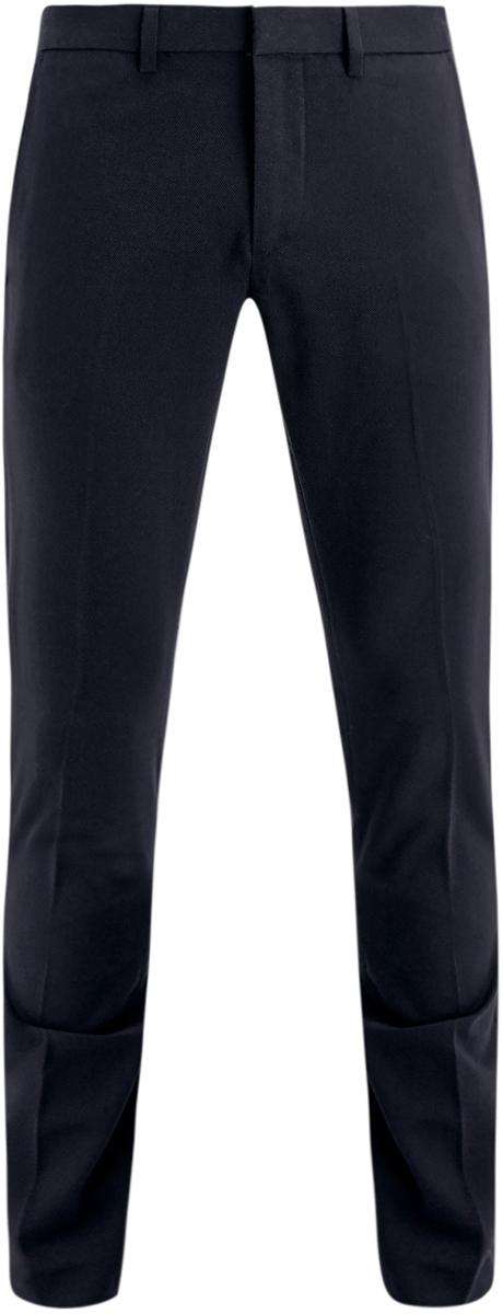 Брюки2L210172M/44325N/7900OМужские брюки oodji Lab выполнены из высококачественного материала. Модель-слим стандартной посадки застегивается на пуговицу и крючок в поясе, а также ширинку на застежке-молнии. Пояс имеет шлевки для ремня. Спереди брюки дополнены втачными карманами, сзади - прорезными на пуговицах.