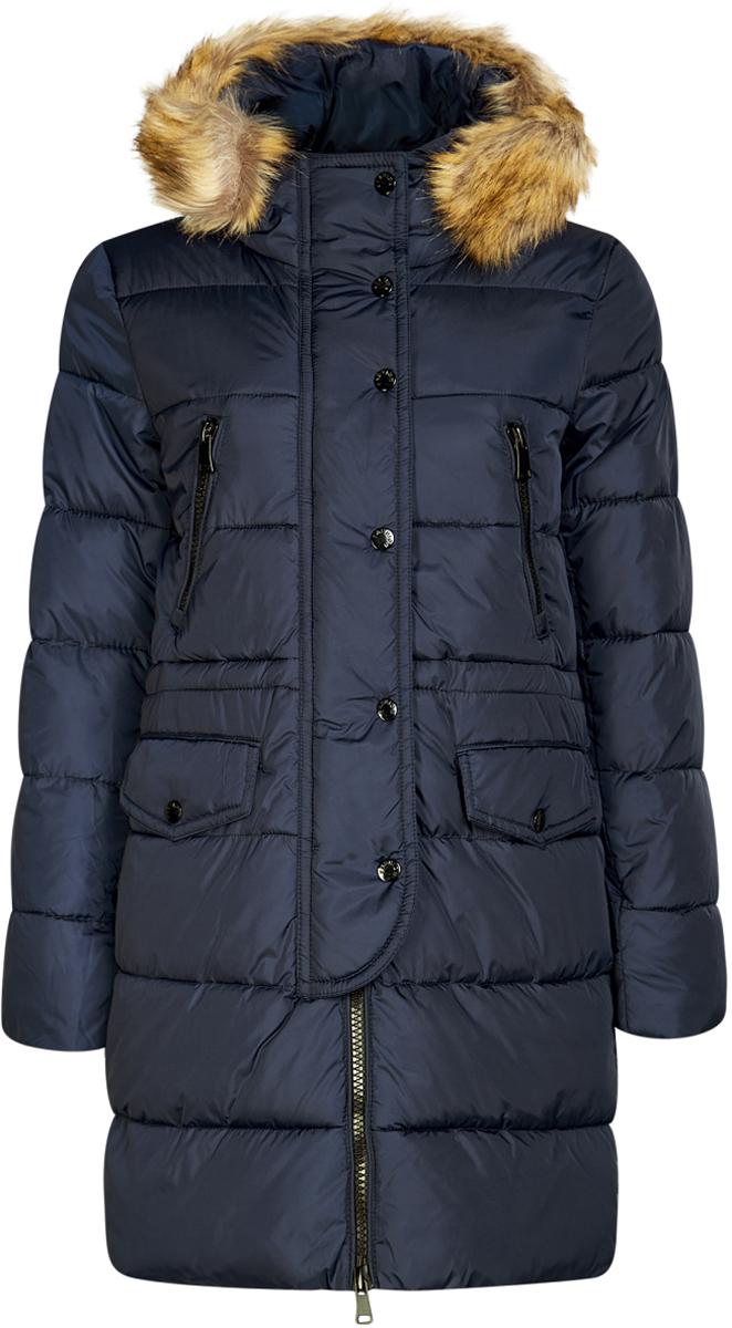Куртка10203058/45928/7900NКуртка удлиненная с искусственным мехом на капюшоне