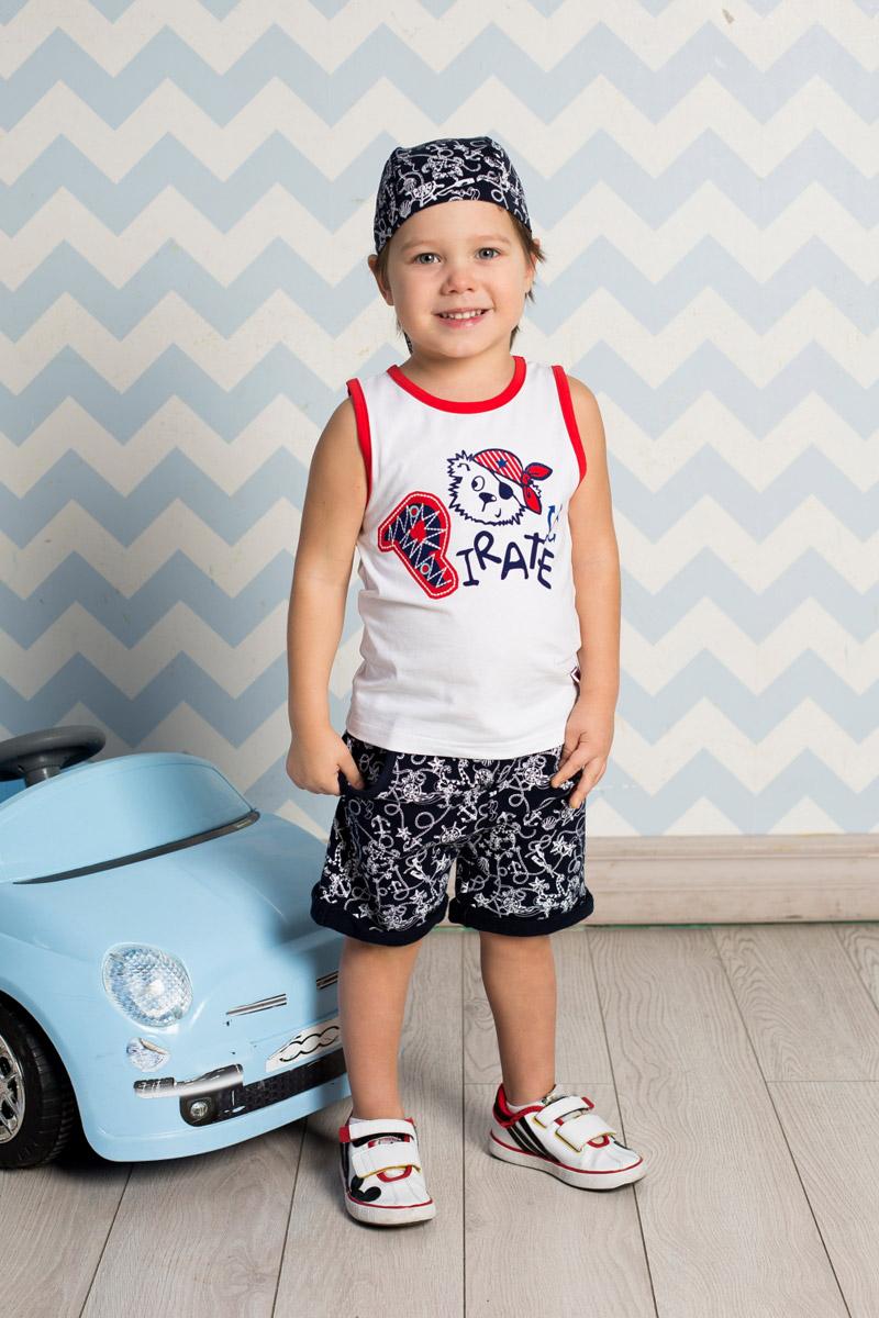 Бандана711079Удобная бандана для мальчика Sweet Berry, изготовленная из качественного эластичного хлопка, защитит голову ребенка от солнца и сильного ветра. Эластичные плоские швы обеспечивают максимальный комфорт при носке. Бандана оформлена принтом в морском стиле и фиксируется на голове широкими завязками. Уважаемые клиенты! Размер, доступный для заказа, является обхватом головы.