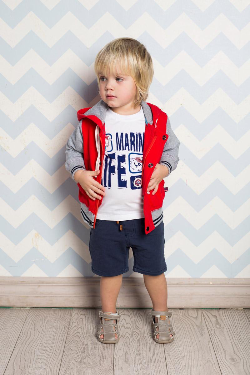 Бриджи/капри711077Стильные бриджи для мальчика Sweet Berry выполнены из мягкого трикотажного материала. Бриджи прямого кроя и стандартной посадки на талии имеют пояс на мягкой резинке, дополнительно регулируемый шнурком. На поясе имеются шлевки для ремня. Модель имеет два втачных м маленький накладной кармашек спереди и два накладных кармана сзади.