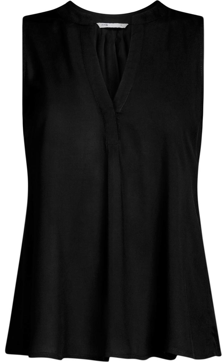 Блузка11411105B/39658N/7000NБлузка женская oodji Ultra выполнена из высококачественного материала. Модель свободного кроя с V-вырезом горловины.