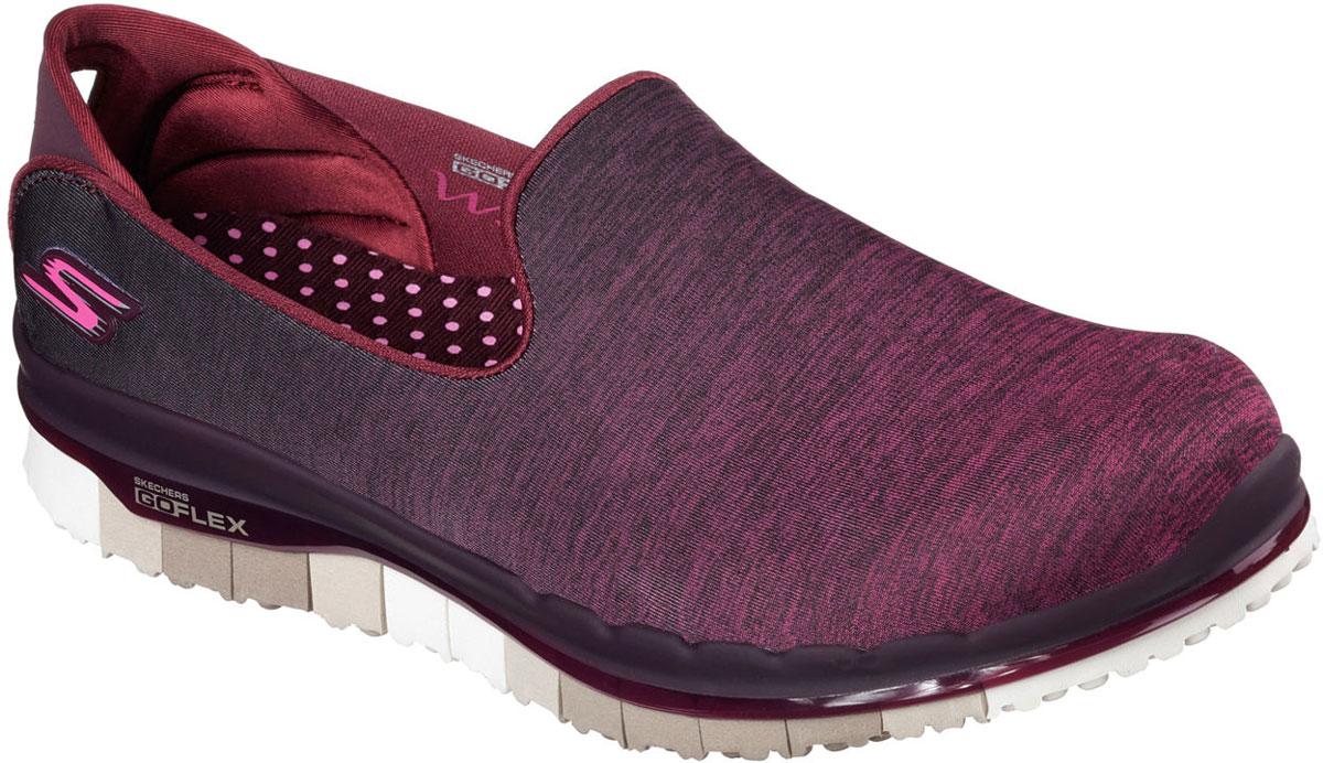 Кроссовки14018-BURGСтильные легкие женские кроссовки Skechers подходят как для занятий спортом, так и для повседневных прогулок. Верх модели выполнен из дышащего текстиля. Внутренняя отделка исполнена из мягкого текстиля. Гибкая анатомическая подошва имеет рельефный протектор, который обеспечивает надежное сцепление с поверхностью. В таких кроссовках вашим ногам будет комфортно и уютно. Они подчеркнут ваш стиль и индивидуальность!