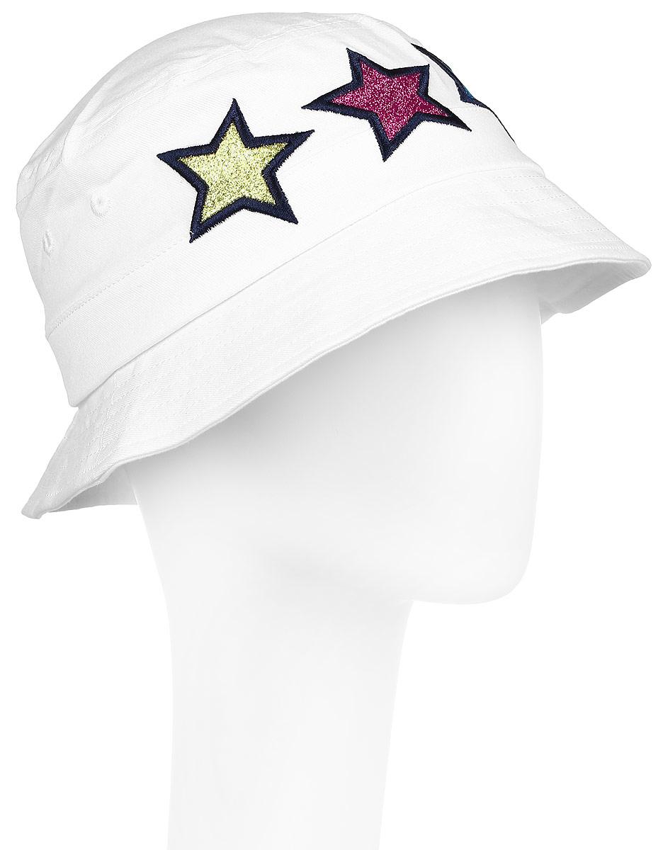 Панама179020Панама из натурального хлопка PlayToday является неотъемлемой частью летнего детского гардероба. Сзади ткань собрана на небольшую резинку. Модель оформлена вышитыми яркими звездами с блестками.