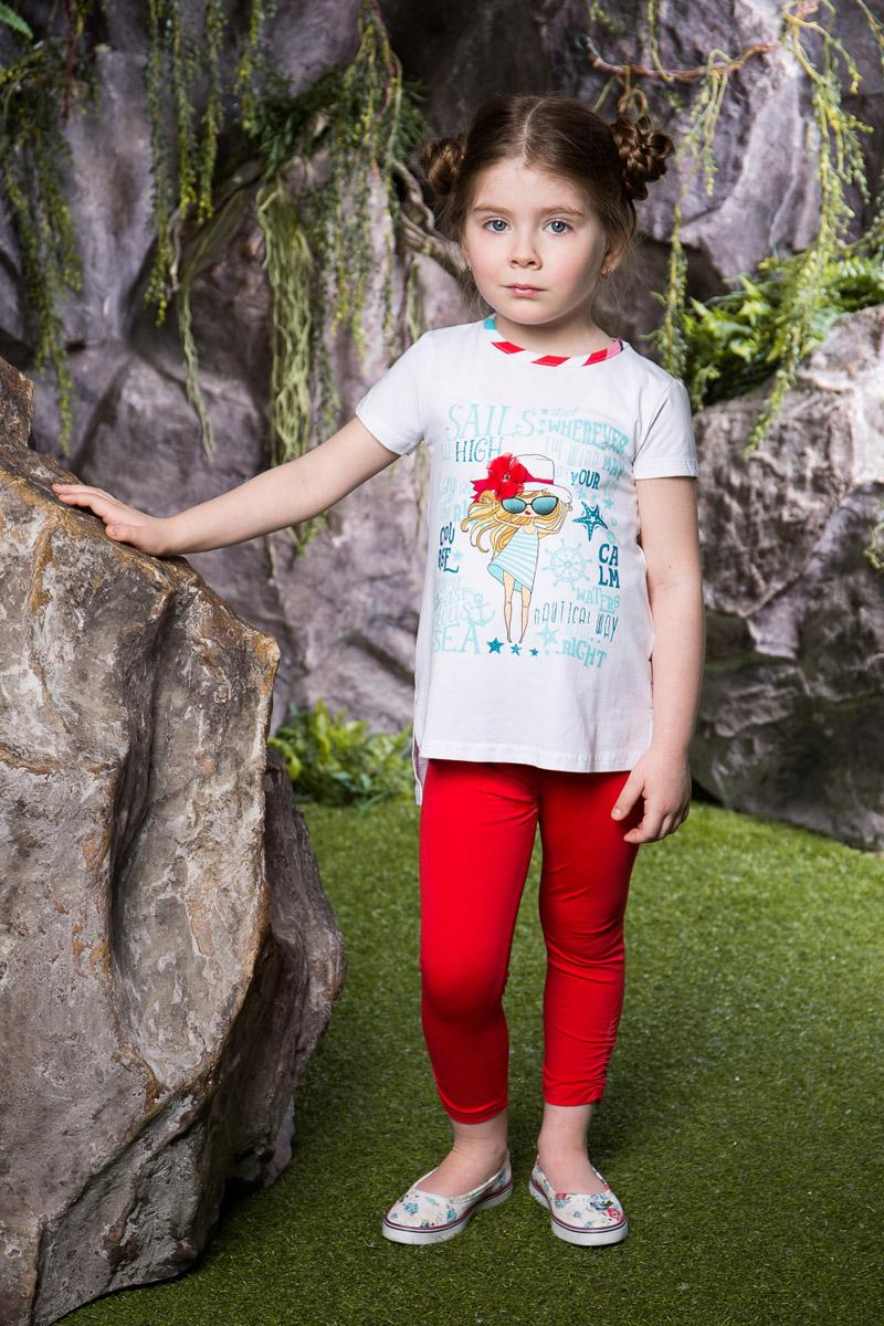 Леггинсы714100Яркие лосины для девочки Sweet Berry выполнены из качественного хлопкового материала. Укороченная модель стандартной посадки на талии имеет пояс на мягкой резинке. Низ брючин с боков оформлен эластичной сборкой.