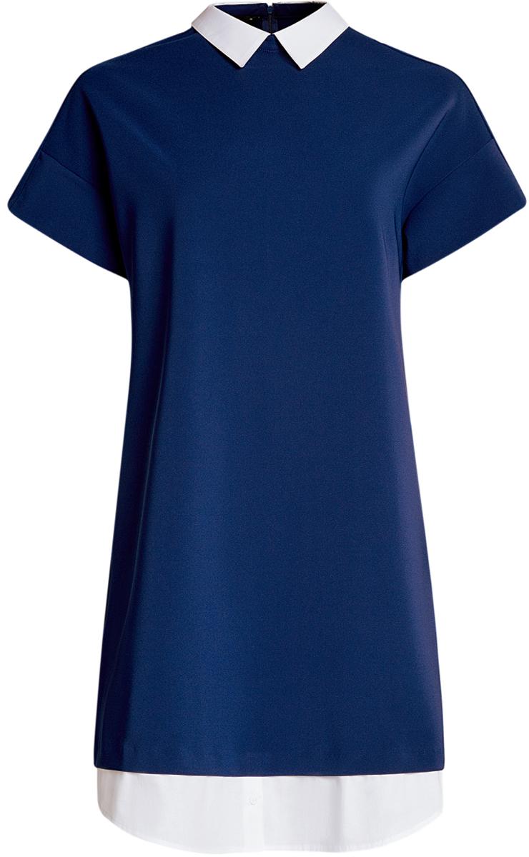 Платье11911012/46349/2900NПлатье комбинированное с воротником