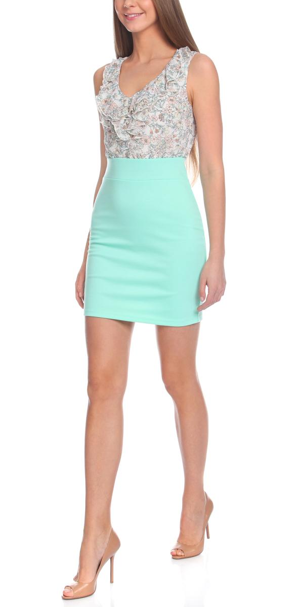 Платье14005124-1/42376/6512FПлатье трикотажное комбинированное