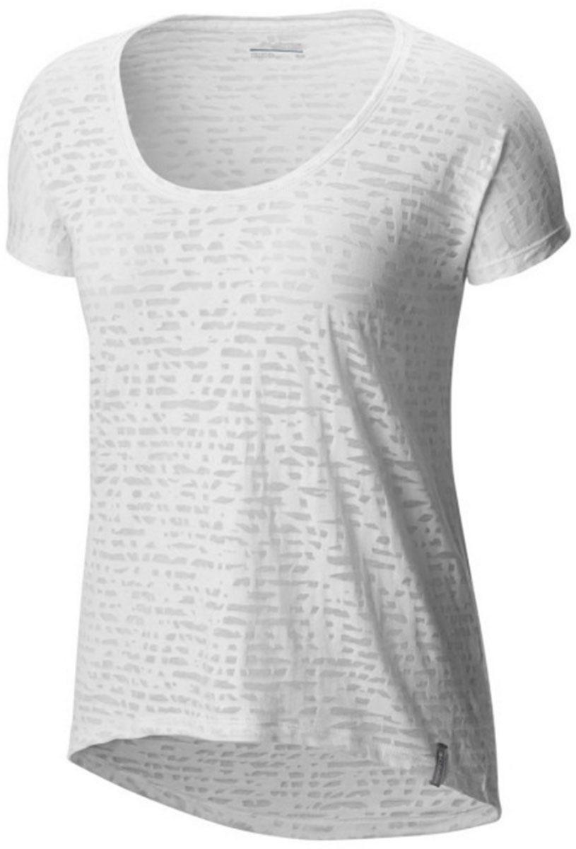 Футболка1655571-101Стильная женская футболка Columbia изготовлена из высококачественных материалов с оригинальной текстурой. Футболка с круглым вырезом горловины и короткими рукавами оформлена оригинальным принтом. Спинка длиннее переда.