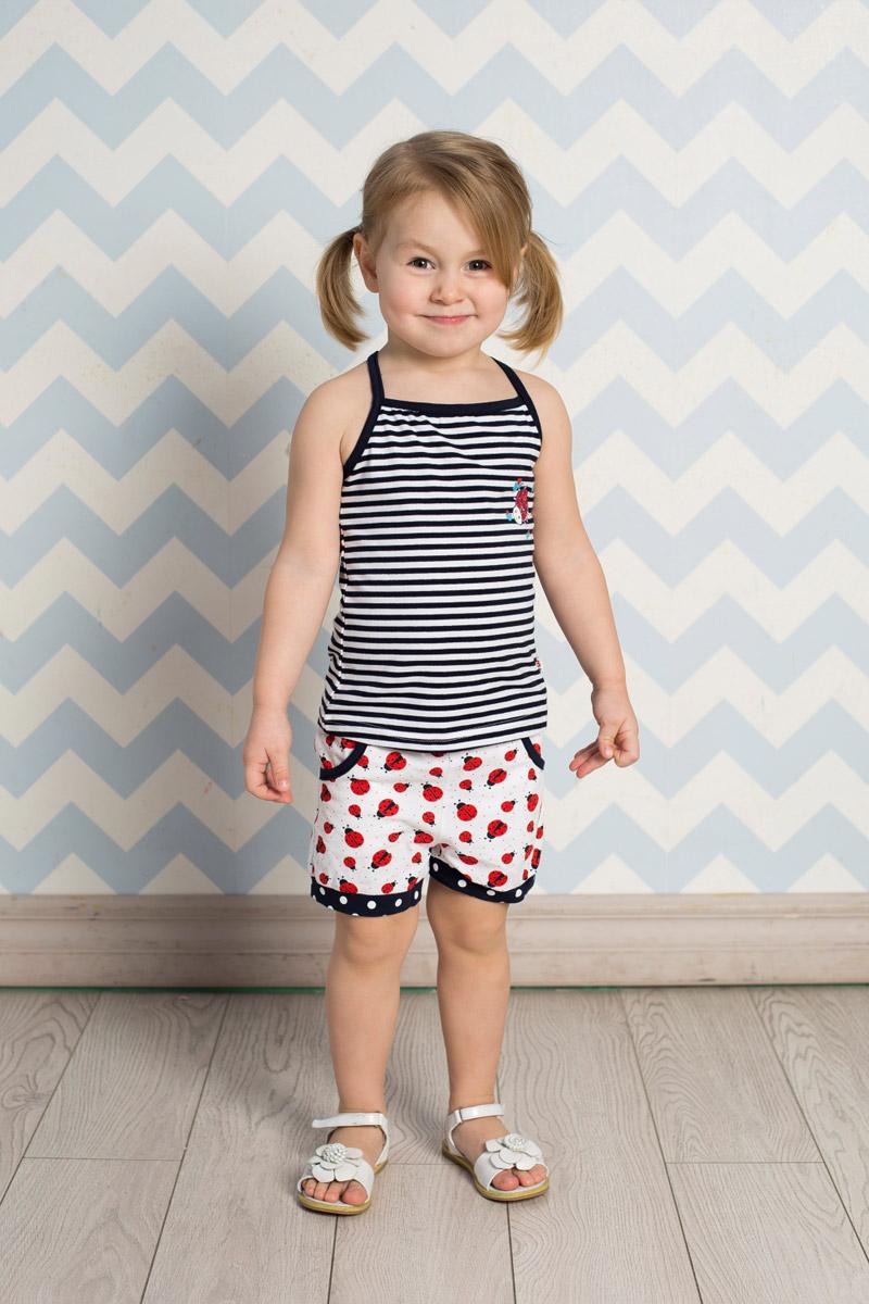Топ712053Яркий топ для девочки Sweet Berry, выполненный из качественного эластичного хлопка в полоску, станет отличным дополнением к детскому гардеробу. Бретели, регулирующиеся по длине, выполнены из материала контрастного цвета.