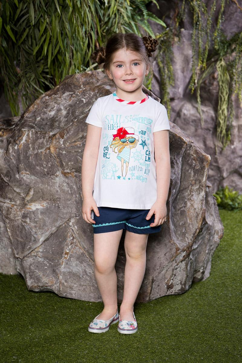 Футболка714081Яркая футболка для девочки Sweet Berry, выполненная из качественного эластичного хлопка, станет отличным дополнением к детскому гардеробу. Модель с удлиненной спинкой и разрезами по бокам оформлена оригинальным принтом. Воротник дополнен мягкой эластичной бейкой контрастного цвета.