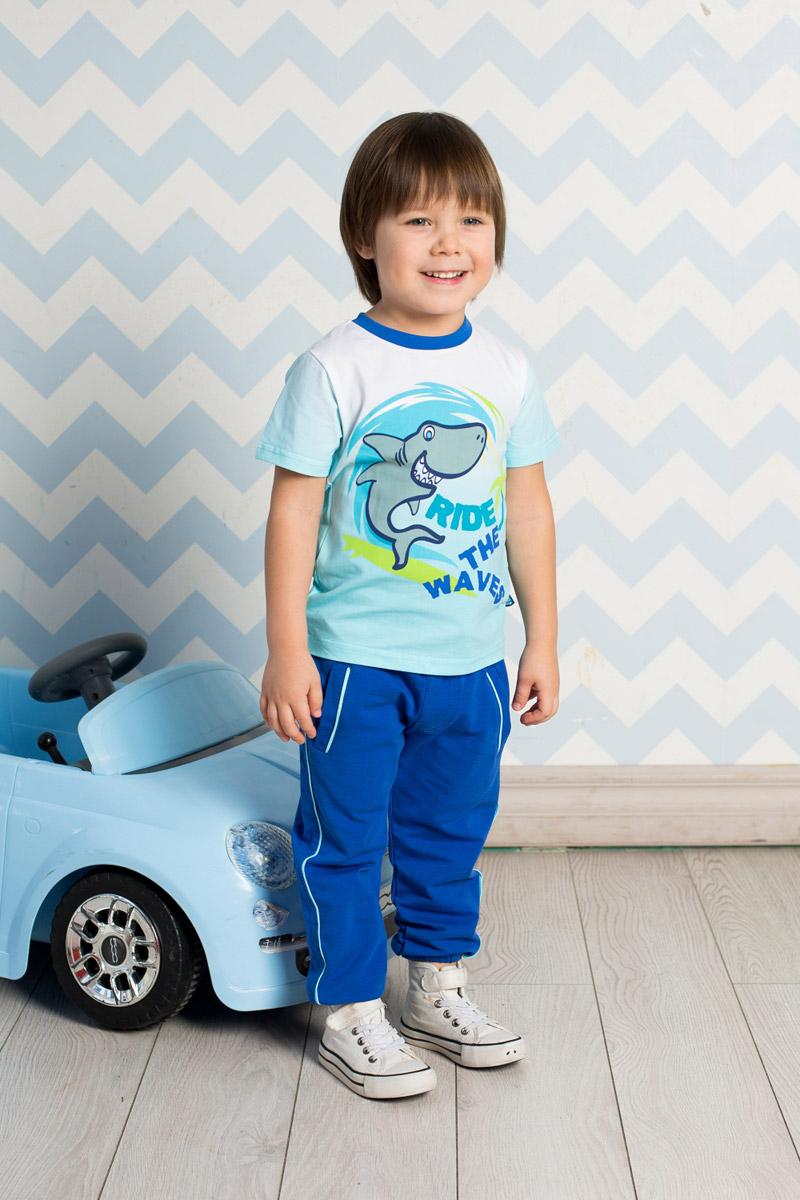 Футболка711044Яркая футболка для мальчика Sweet Berry, выполненная из качественного эластичного хлопка градиентного цвета, станет отличным дополнением к детскому гардеробу. Модель с круглым вырезом горловины оформлена оригинальным принтом. Воротник дополнен мягкой трикотажной резинкой контрастного цвета.