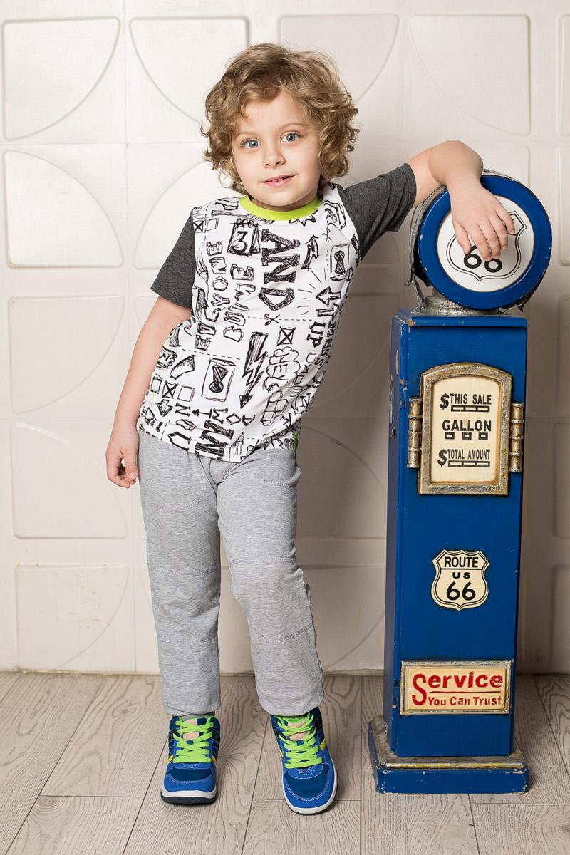Футболка713115Яркая футболка для мальчика Sweet Berry, выполненная из качественного эластичного хлопка, станет отличным дополнением к детскому гардеробу. Модель с круглым вырезом горловины оформлена оригинальным принтом. Рукава и мягкая резинка на воротнике выполнены из материала контрастных цветов.