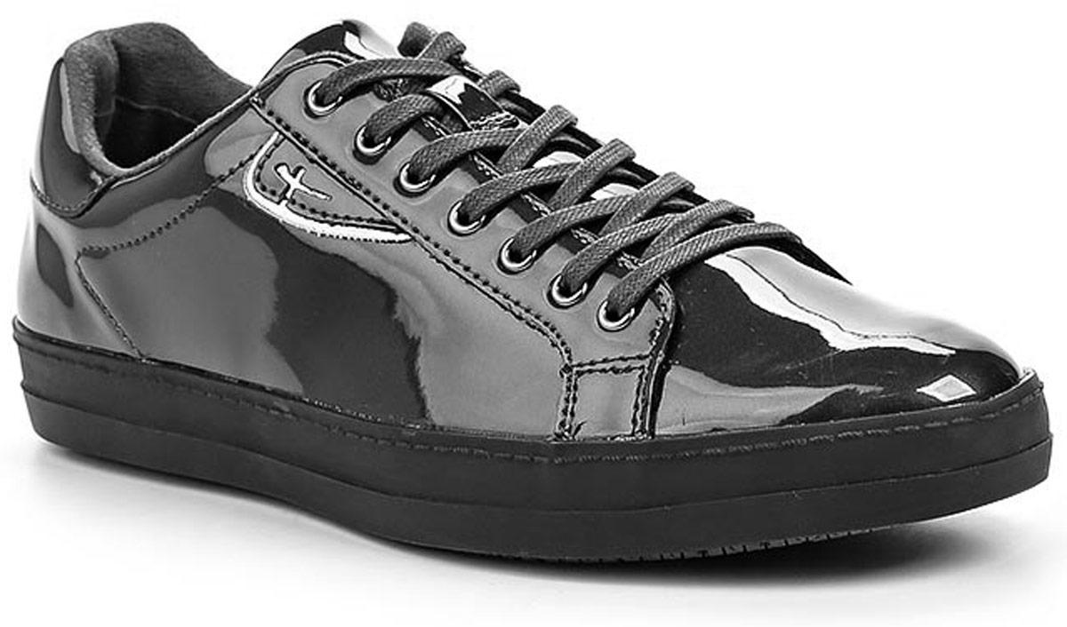 Полуботинки1-1-23606-27-263/227Стильные женские полуботинки Tamaris придутся вам по душе! Модель выполнена из искусственной лакированной кожи. Классическая шнуровка обеспечивает оптимальную посадку обуви на ноге. Невероятно мягкая стелька из текстиля гарантирует максимальный комфорт при движении и позволяет ногам дышать. Невысокий каблук и подошва с рифленым протектором не скользят. Удобные полуботинки помогут вам создать яркий, запоминающийся образ и выделиться среди окружающих.