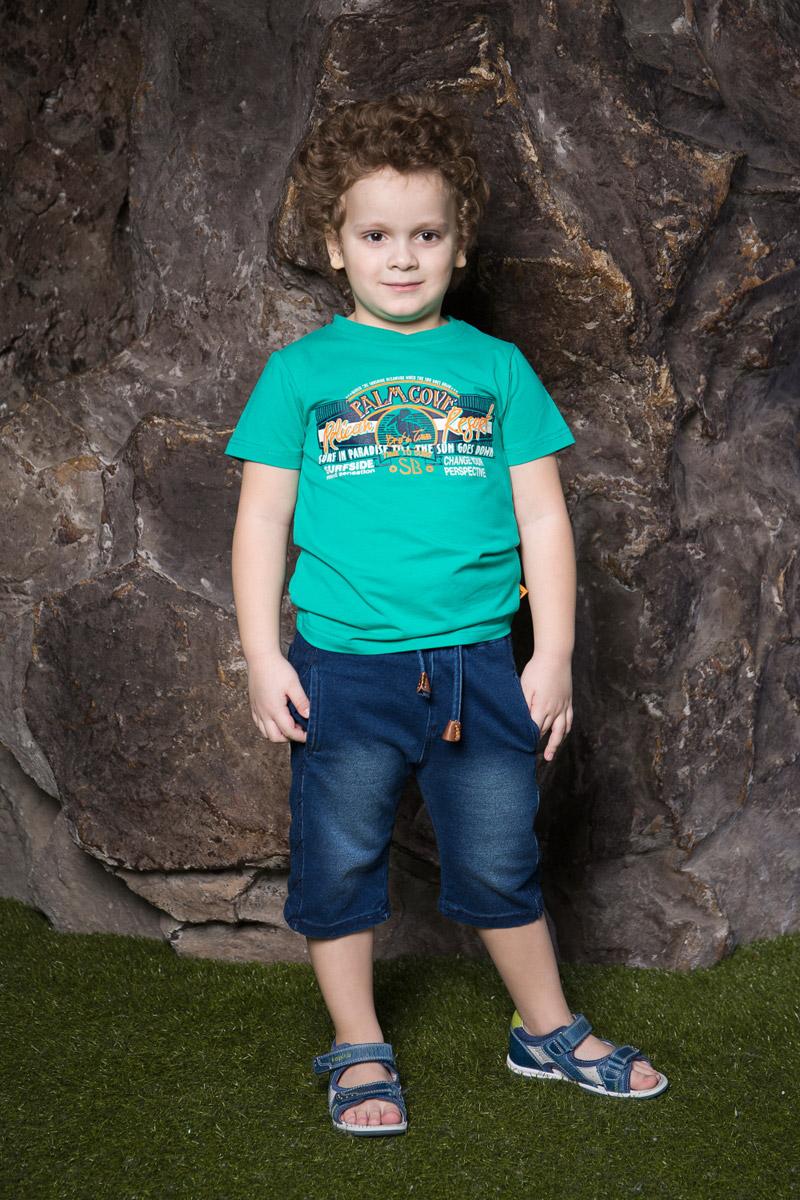 Футболка713059Яркая футболка для мальчика Sweet Berry, выполненная из качественного эластичного хлопка, станет отличным дополнением к детскому гардеробу. Модель с круглым вырезом горловины оформлена оригинальным принтом. Воротник дополнен мягкой трикотажной резинкой.