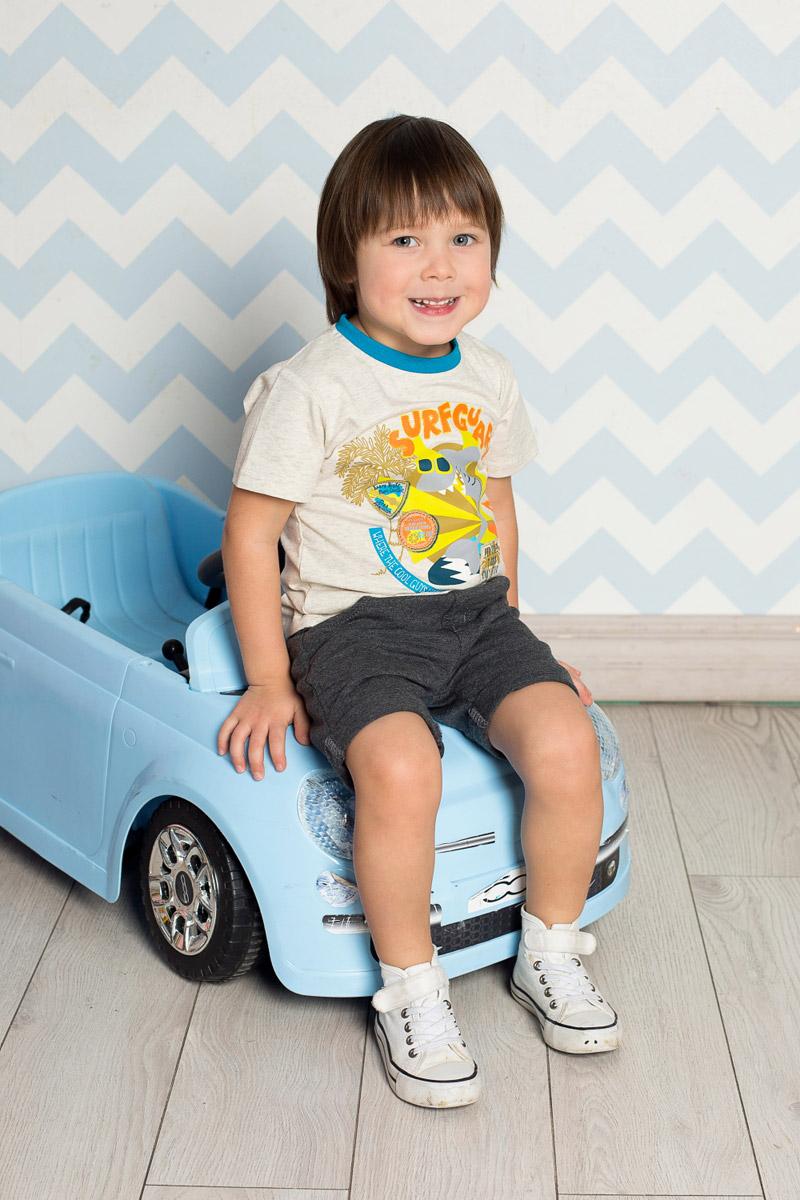 Футболка711021Яркая футболка для мальчика Sweet Berry, выполненная из качественного эластичного хлопка, станет отличным дополнением к детскому гардеробу. Модель с круглым вырезом горловины оформлена оригинальным принтом. Воротник дополнен мягкой трикотажной резинкой контрастного цвета.