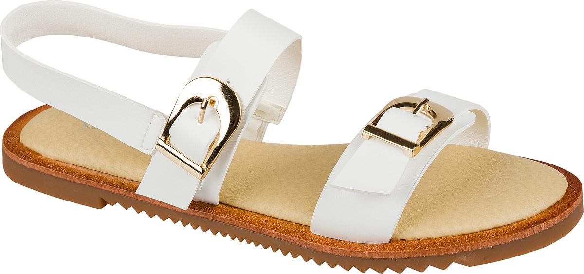Босоножки101519Изящные босоножки для девочки Mursu выполнены из качественной искусственной кожи. Ремешки с металлическими пряжками обеспечат оптимальную посадку модели на ноге. Кожаная стелька придаст максимальный комфорт при движении. Подошва оснащена рифлением для лучшего сцепления с различными поверхностями.