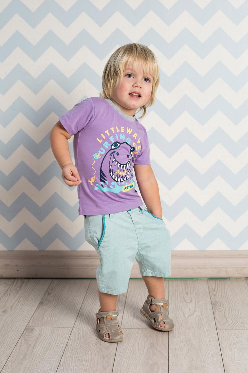 Футболка711045Яркая футболка для мальчика Sweet Berry, выполненная из качественного эластичного хлопка, станет отличным дополнением к детскому гардеробу. Модель с круглым вырезом горловины оформлена оригинальным принтом. Воротник дополнен мягкой трикотажной резинкой контрастного цвета.