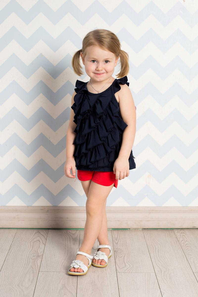 Шорты712045Стильные шорты для девочки Sweet Berry выполнены из мягкого трикотажного материала. Модель прямого кроя имеет пояс на мягкой резинке, оформленный двумя декоративными пуговицами. Спереди изделие дополнено двумя накладными карманами.