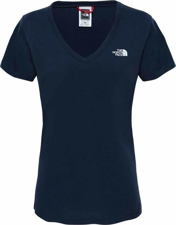ФутболкаT0A3H6H2GЖенская футболка The North Face Womens - отличный вариант для каждодневного использования. У модели укороченные рукава и женственный V-образный вырез, принт на груди с логотипом The North Face.