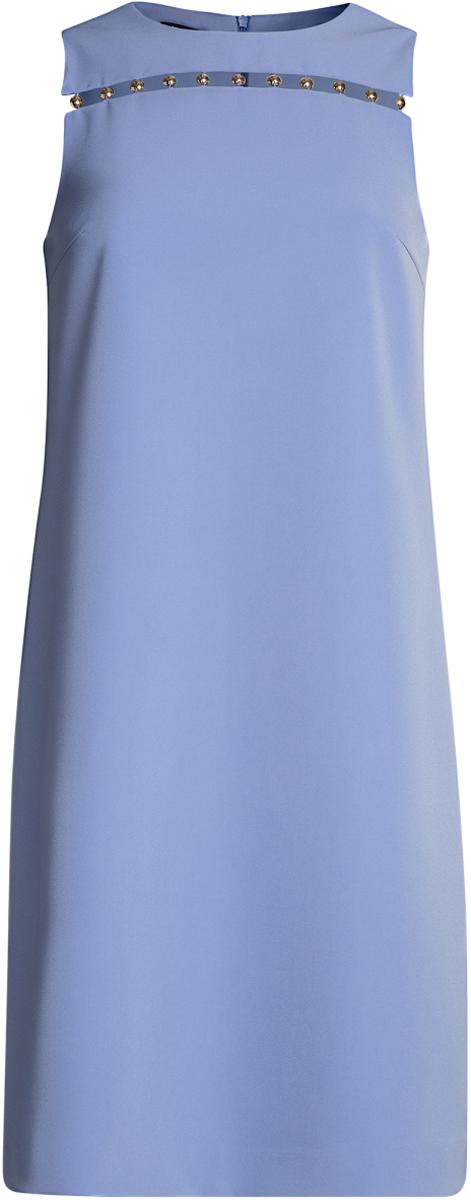 Платье21901165/46414/2900NПлатье прямого силуэта с металлически декором