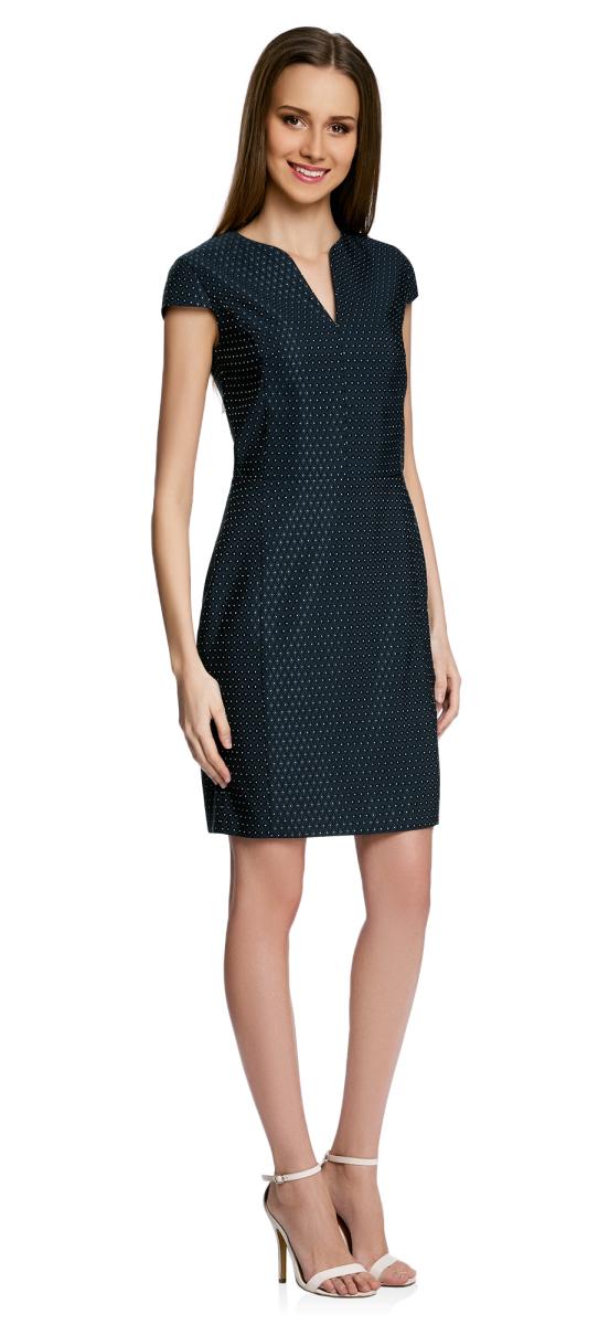 Платье21902060-2/46140/7912DПлатье приталенное с V-образным вырезом