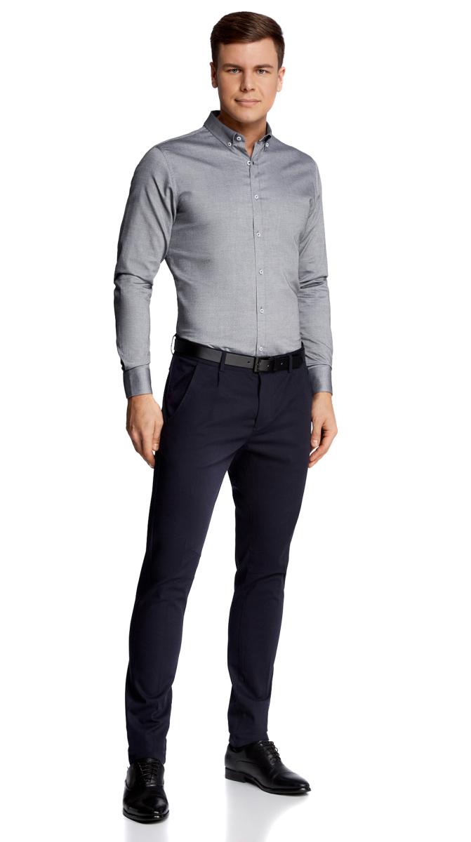 Рубашка3B110011M/34714N/2300NРубашка приталенная с длинным рукавом