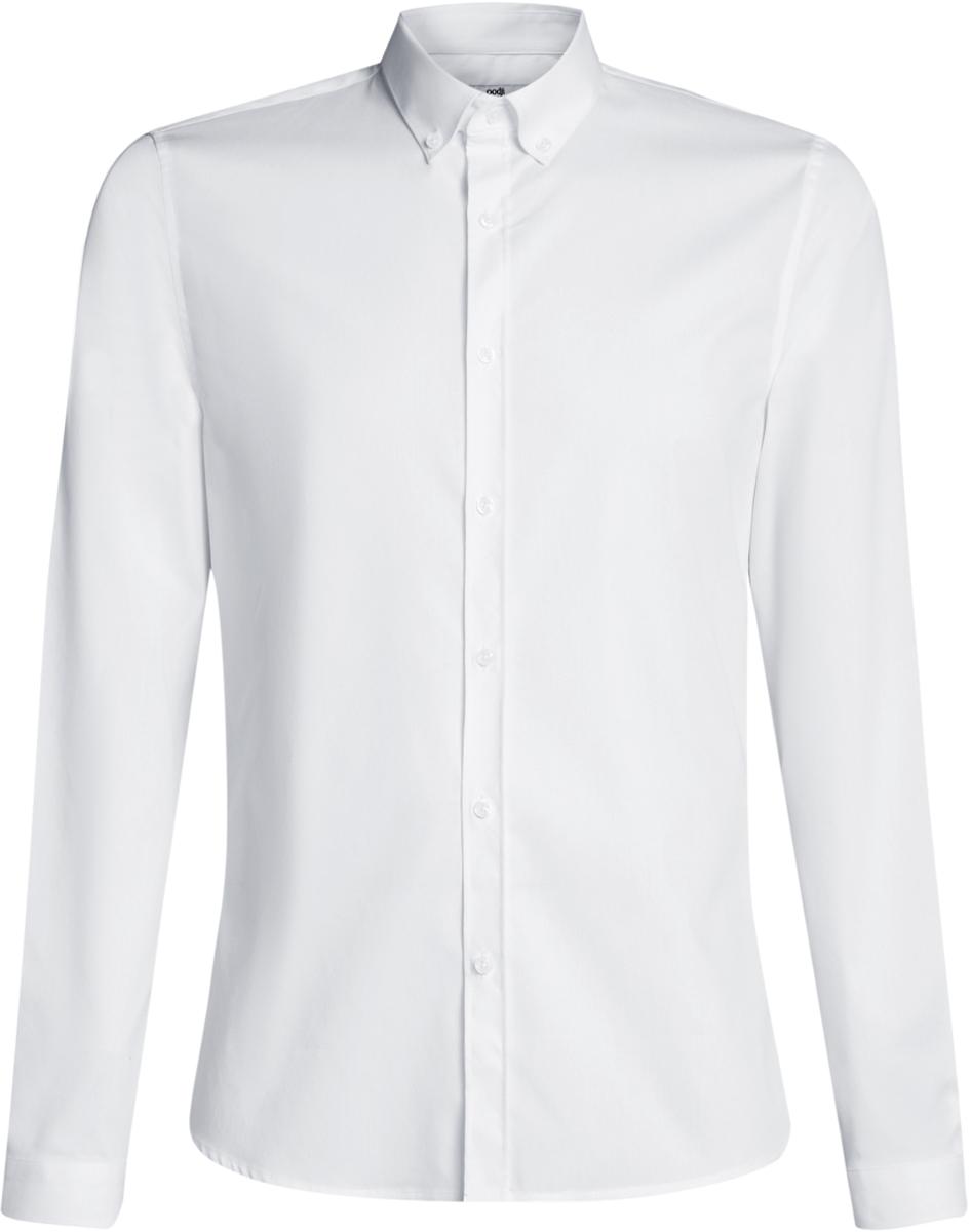Рубашка3B140002M/34146N/7000NРубашка базовая из хлопка приталенная