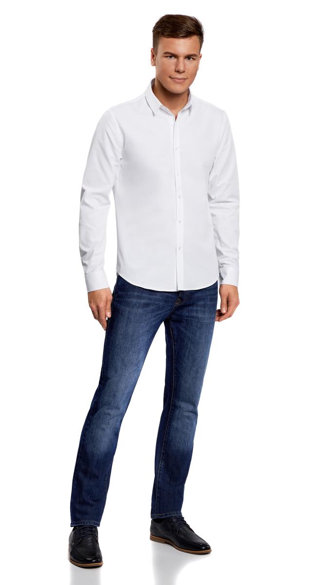 Рубашка3L110208M/44355N/1000NРубашка хлопковая приталенного силуэта
