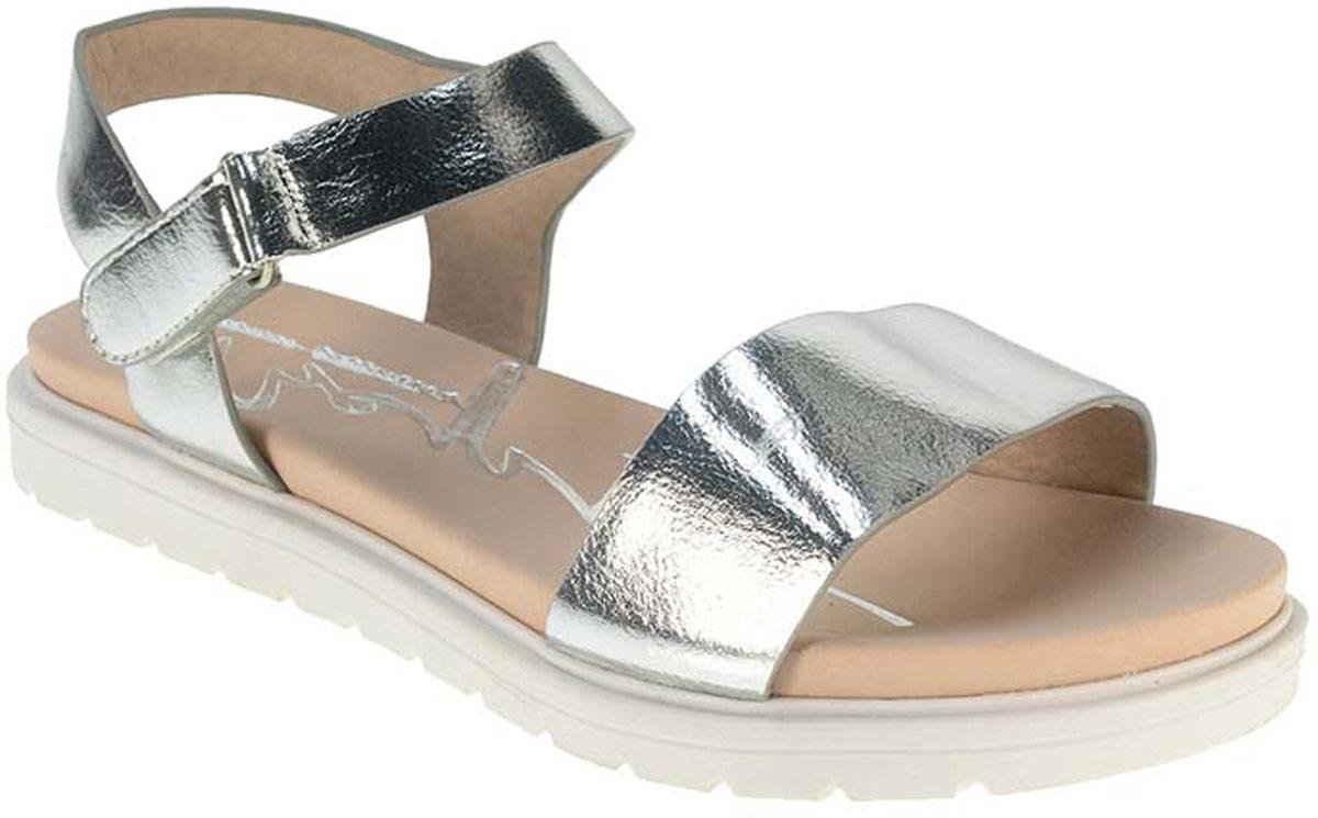 Сандалии2147380Модные сандалии для девочки от Beppi выполнены искусственной кожи. Внутренняя поверхность из искусственной кожи не натирает. Ремешок с застежкой-липучкой надежно зафиксирует модель на ноге. Подошва дополнена рифлением.