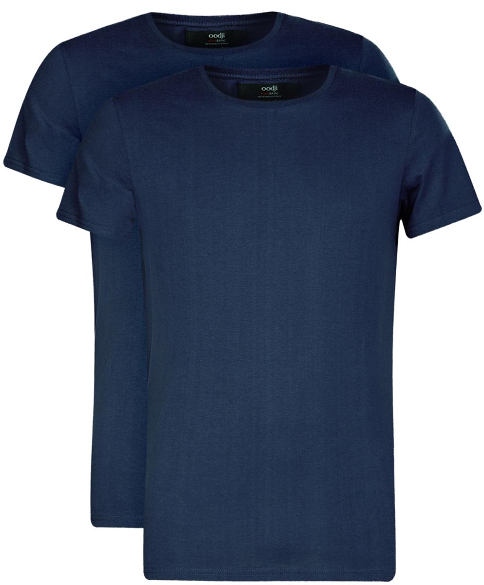 Футболка5B621002T2/44135N/1000NБазовая мужская футболка от oodji с круглым вырезом горловины и короткими рукавами выполнена из натурального хлопка. В комплект входит 2 футболки.