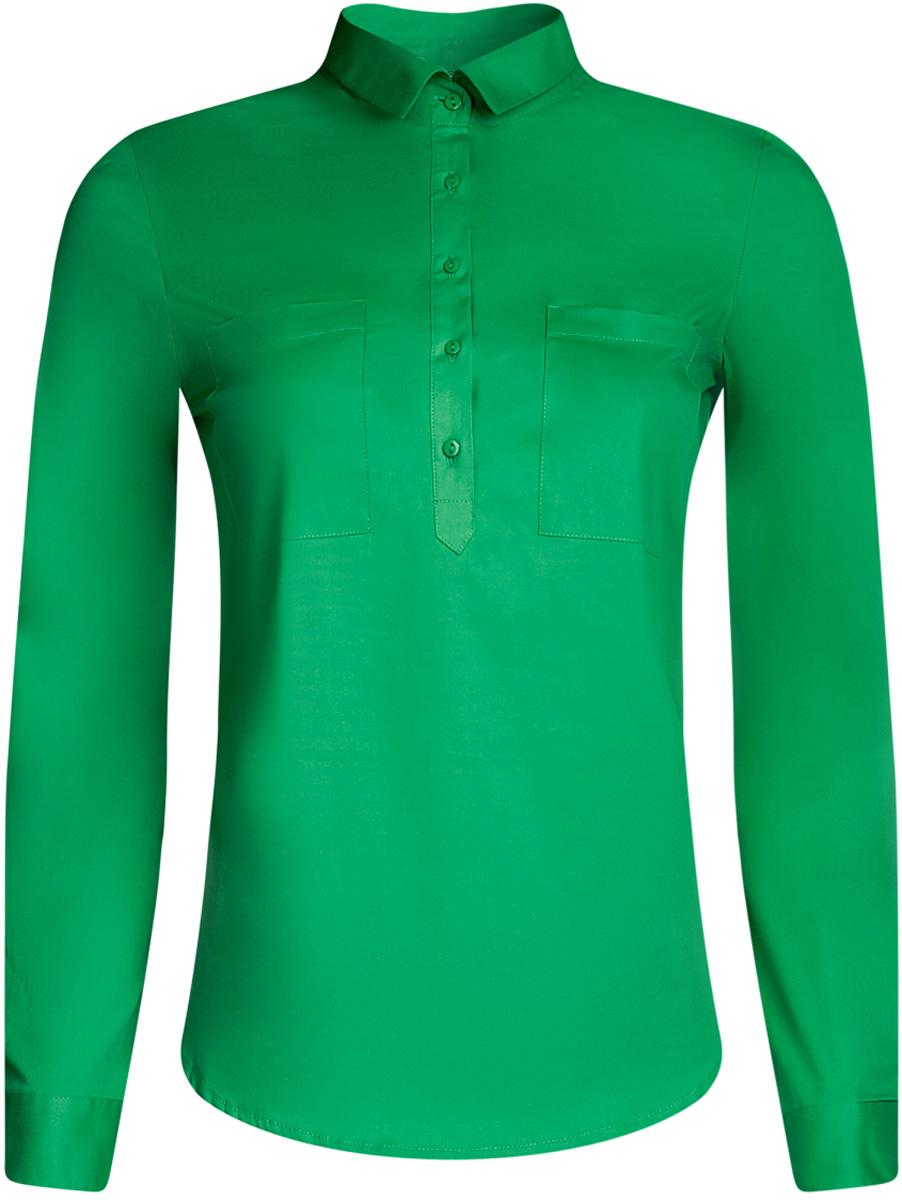 Блузка11403222B/42468/1229DРубашка базовая с нагрудными карманами
